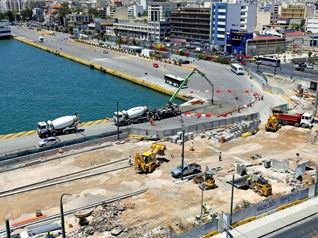 Below sea level is a new metro station of Piraeus