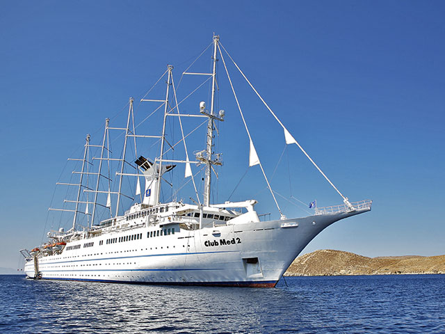 World-wide cruise Deluxe-Club Med 2 on the island of Chios.