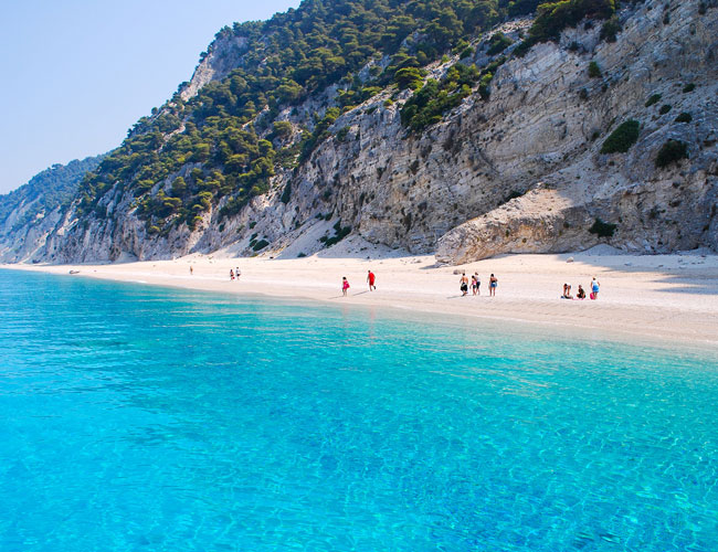 Three of Greek beachs in the top 10 of the Mediterranean.