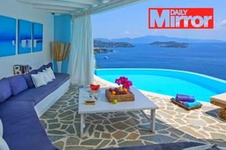 Mirror: Skiathos, Naxos, Santorini and Crete in the top ten autumn Mediterranean destinations.