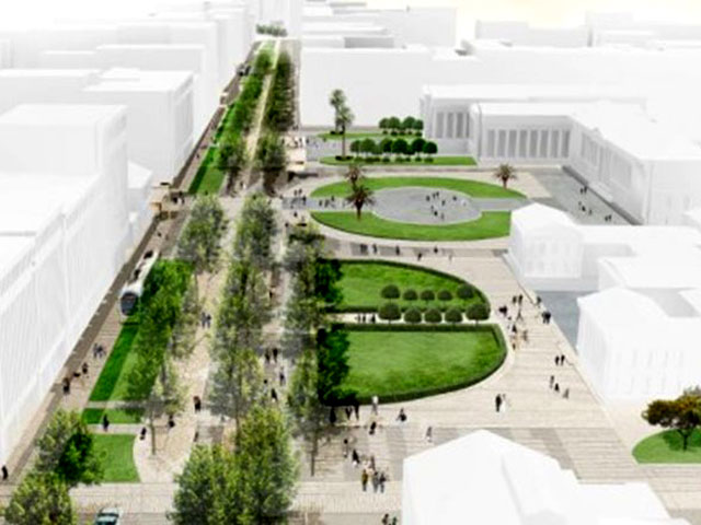 Reconstruction of the center of Athens