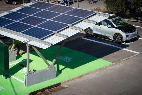 University of Piraeus tests first solar-powered electric car charging station