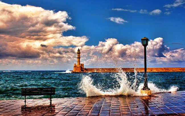 The beautiful town of Chania.
