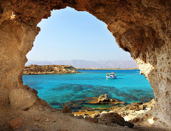 The exotic island of Crete.