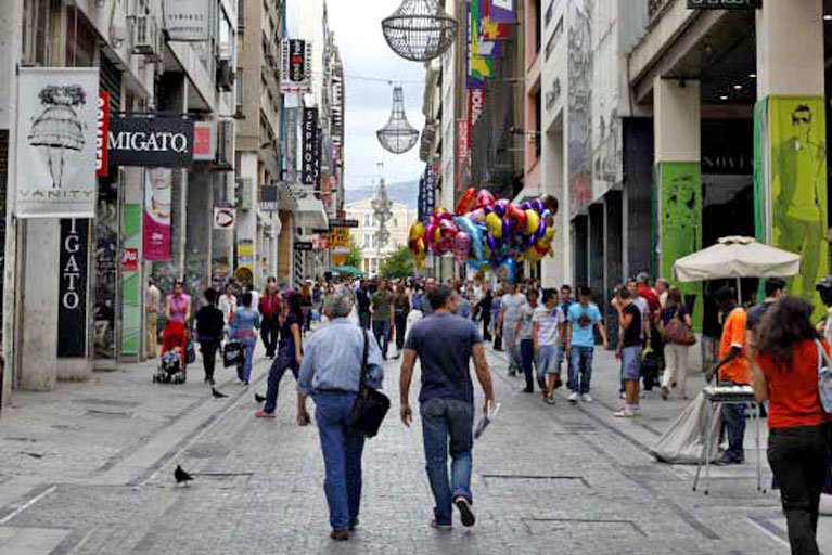 Large trading in rental commercial property prices in Greece