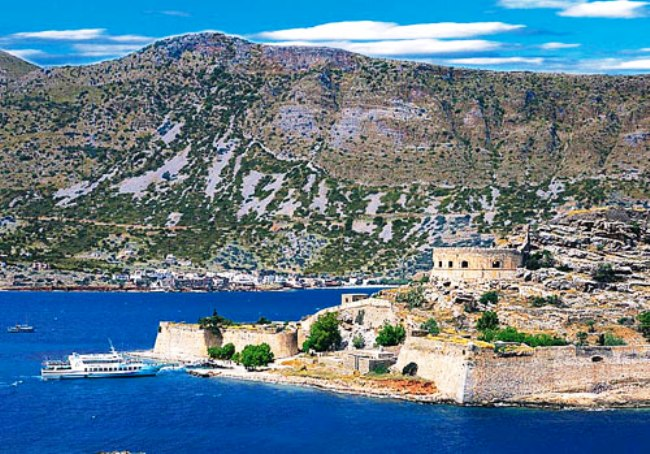 The majestic Bay of Elounda and the famous Spinaloga island.