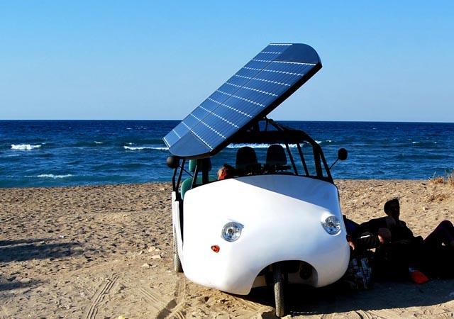 Cretan production runs solar powered car Sunnyclist