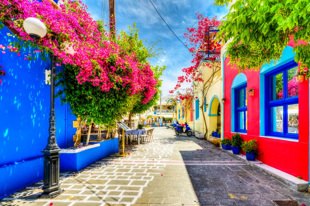 Greece entered the top three most colorful countries in the world