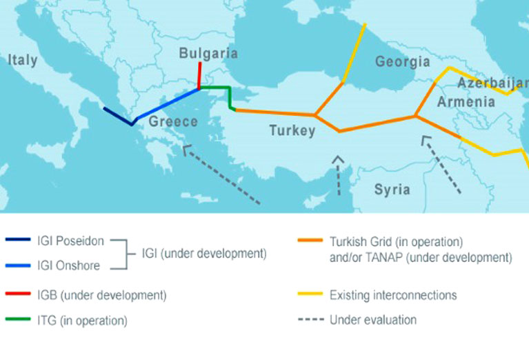 Gazprom, Edison, DEPA to revive Greek ITGI pipe to Italy