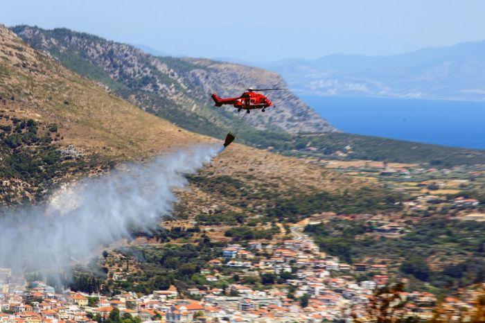 Natura-2000-Gebiet auf Kreta in Flammen gehüllt