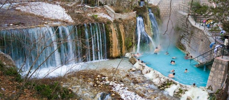 Trois points d'eau à Corinthie