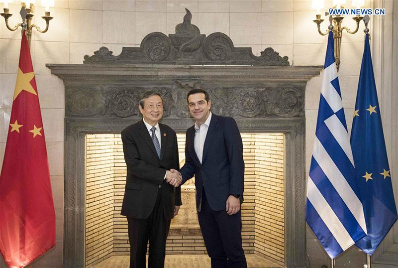 Tsipras and Chinese Vice Premier Discuss Trade Cooperation in Athens