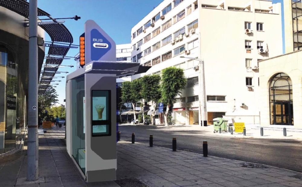 The design stops for public transport will appear in Cyprus