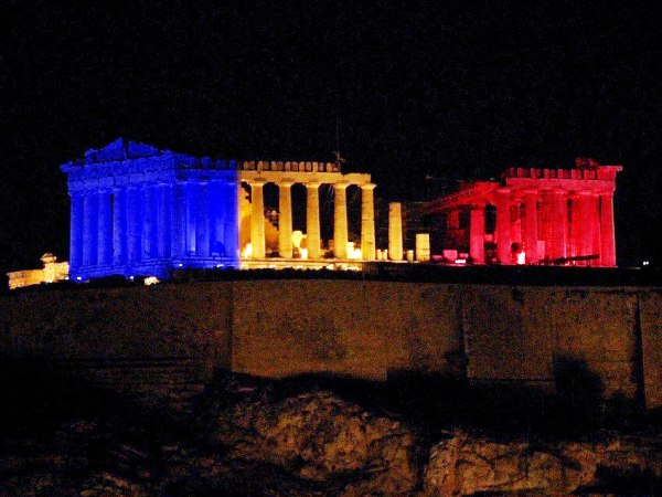 Greece supports France among with the whole world!