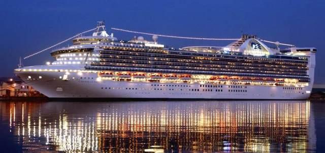 У порт Іракліона зайшло круїзне судно-гігант «Princess Emerald»