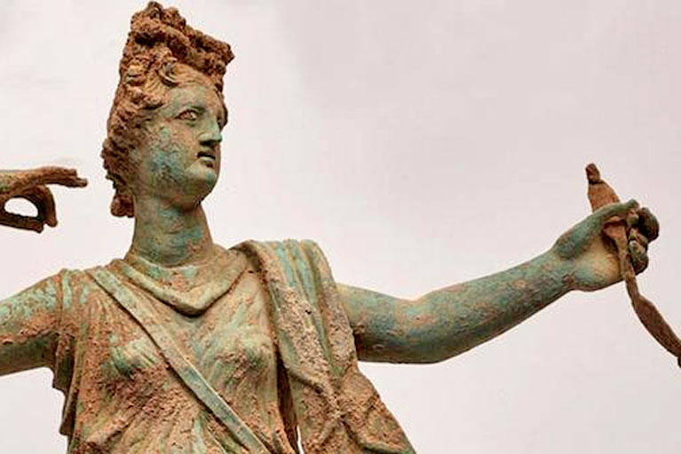 Crete: Sculptures of Greek gods Artemis and Apollo discovered in ancient city of Aptera