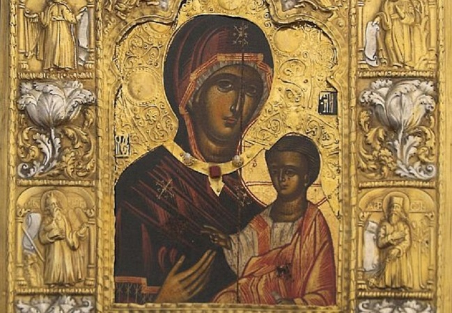 The Holy image of Panagia Soumela in Athens.