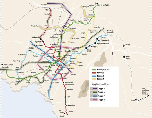 Обсуждается запуск четвертой линии метро в Афинах.
