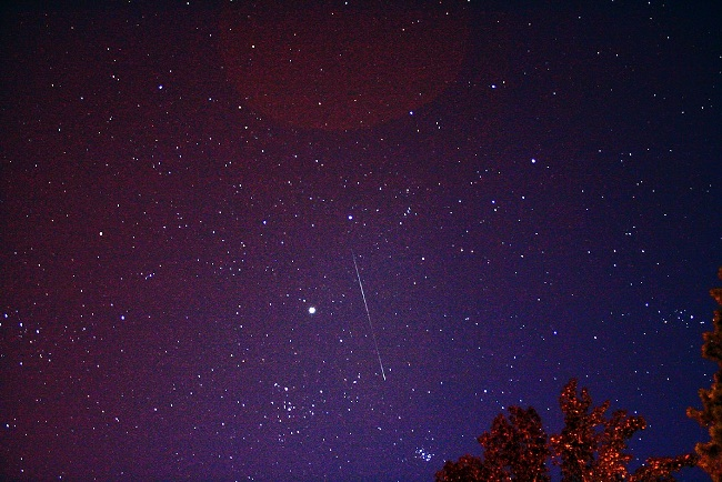 Meteor Shower across the night sky