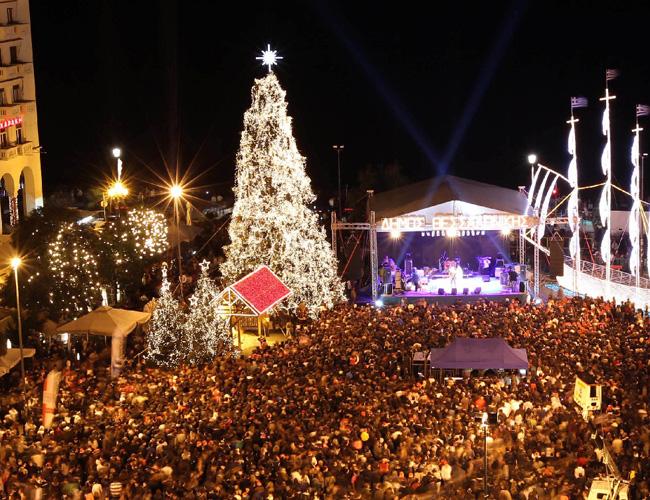 Рождественская ярмарка в Салониках