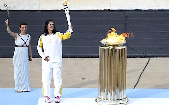 Journey of the Olympic Flame Comes to an End in Greece