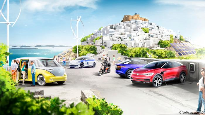 Volkswagen about to conquer a whole Greek island