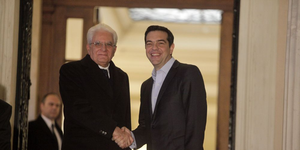 Τσίπρας – Ματαρέλα: «Χώρες-φίλες Ελλάδα και Ιταλία»