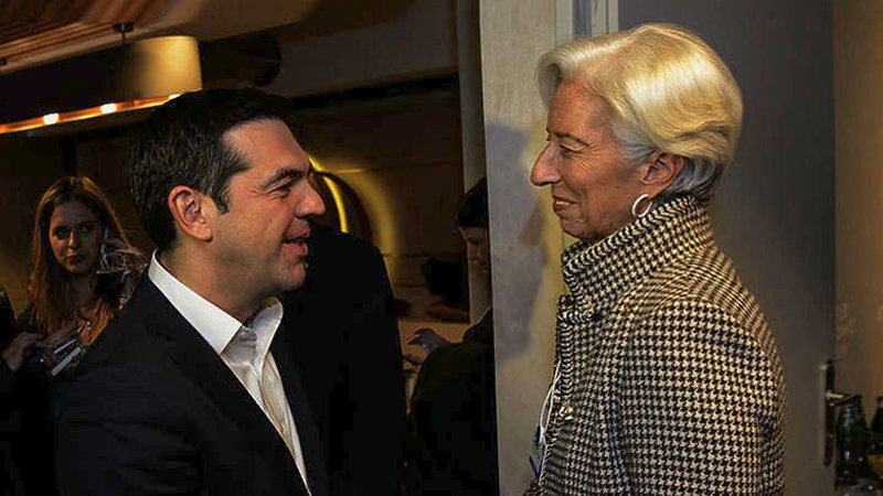Tsipras Meets Moscovici and Lagarde in Davos