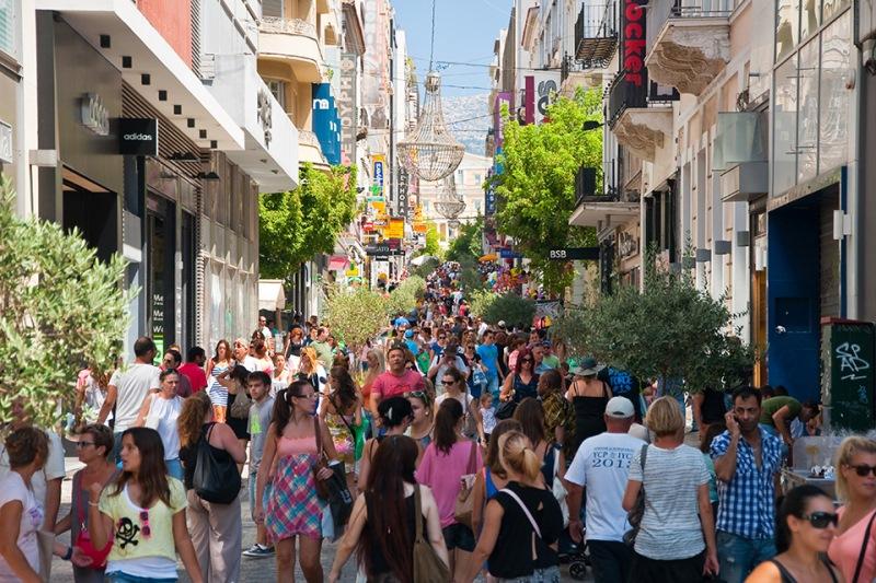 Стоимость аренды на улице Эрму в Афинах среди самых высоких в мире