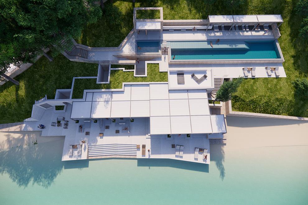 Публикуваха първите снимки на милиардерския VIP курорт на гръцкия остров Скорпиос