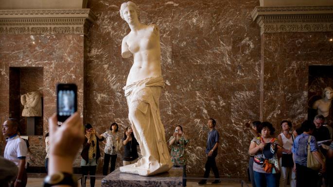 The Discovery of the Venus de Milo Statue