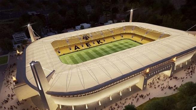 В Афинах началось строительство нового стадиона для футбольного клуба AEK.