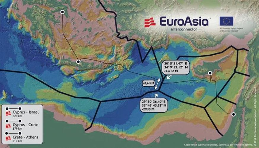 Construction of the EuroAsia Interconnector 'Electricity Highway' to Begin 2017