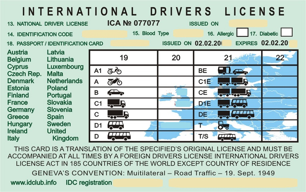 Международные водительские права для туристов