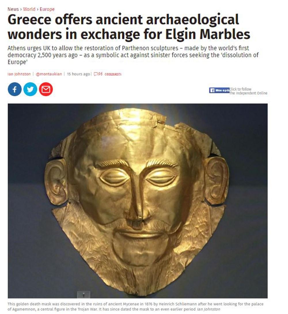 Independent: Η Ελλάδα προσφέρει ανταλλάγματα για την επιστροφή των Γλυπτών του Παρθενώνα