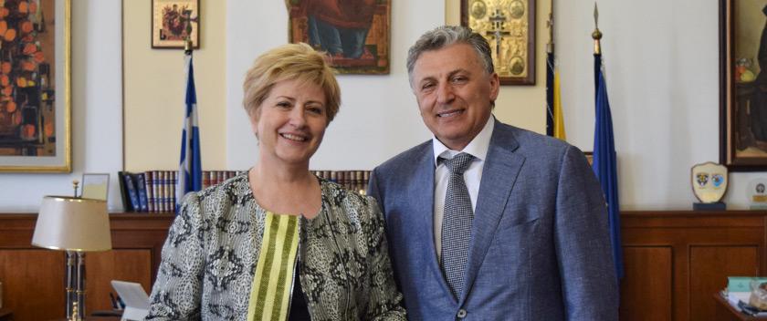 Συνάντηση της Υφυπουργού κ.Κόλλια-Τσαρουχά με τον κ.Μπόρις Μουζενίδη του Mouzenidis Group