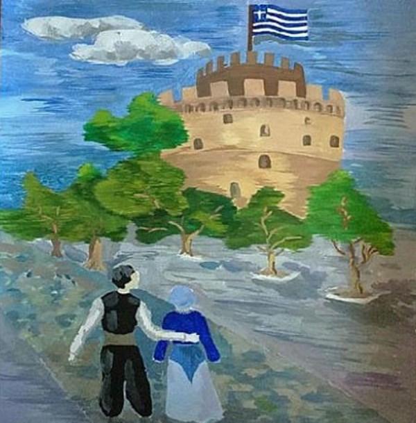 Русские дети рисуют Грецию