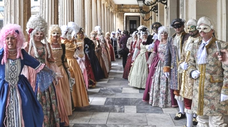Corfu Turns Into 18th Century Venice for the Carnival