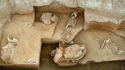 В Афинах обнаружены редчайшие захоронения.