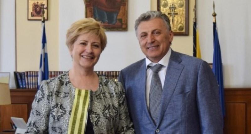 Встреча замминистра внутренних дел Греции и президента «Mouzenidis Group»