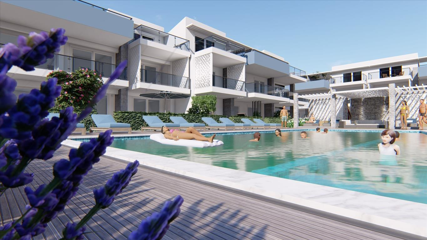 The construction of Bomo Nikiti Apartments in Greece is proceeding according to the timeframe